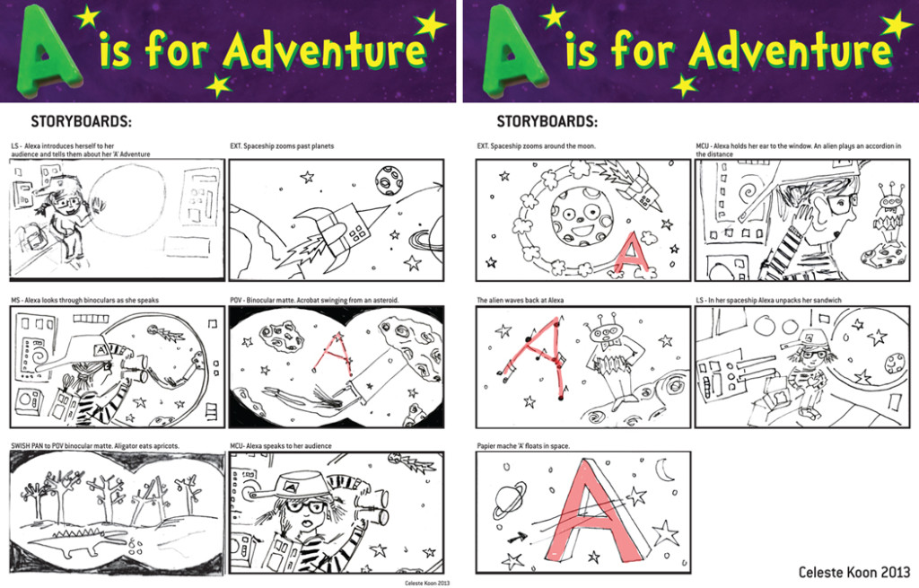 A is for Adventure- storyboards -FINAL